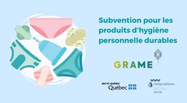 Subvention pour l'achat de produits d'hygiène personnelle durables avec le GRAME